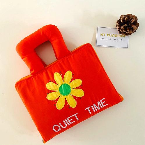 My Fabric Quiet Time Book - Orange
