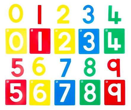 Numbers 0-9 Small Stencil Set of 10