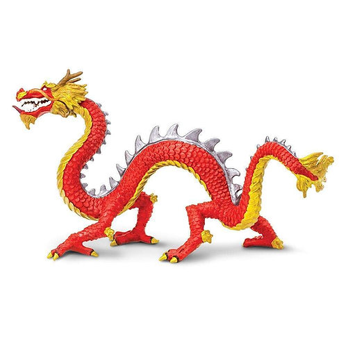 Horned Chinese Dragon Figurine