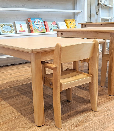 Montessori Toddler (12 - 36 months) Table Set (with Armchair) Beech Wood