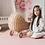 Thumbnail: Little Wiwa Play Mat Signatur Rosa  [SMÅ] 100cm (L)  x 140cm (W)