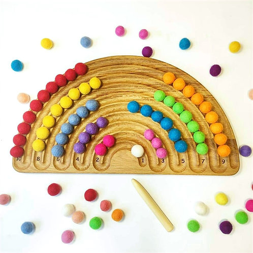 Rainbow Tracing Board with 2 marbles