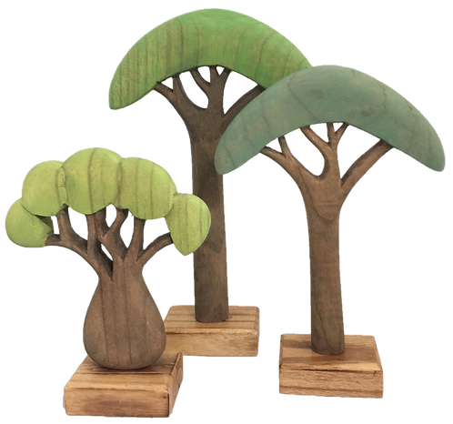 Papoose African Trees Set of 3