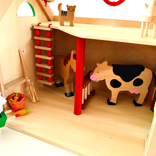 Wooden Farm Set with 30+ Accessories