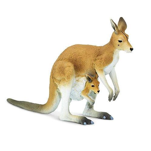 Kangaroo with Joey Figurine