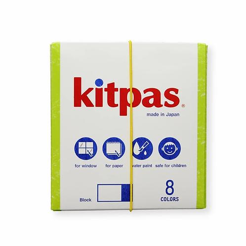 Kitpas Block Crayons 8 Colours