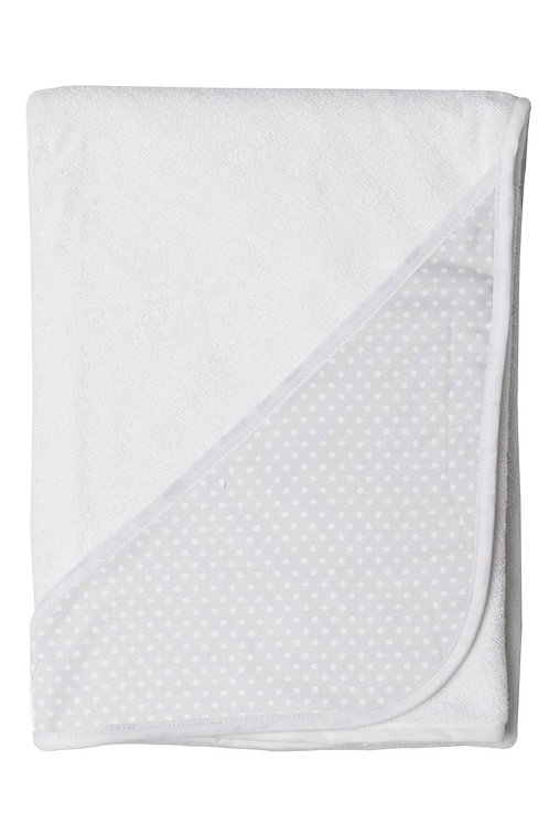 Hooded Toddler Towel - Grey Squares