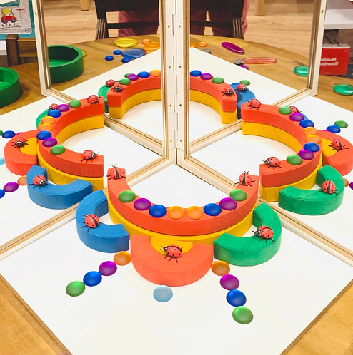 Discovery Learning Mirror and Stackable Rainbow Kit