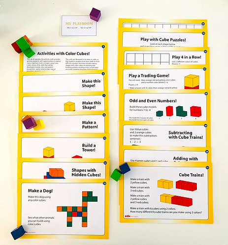 Wooden Cubes Activity Set