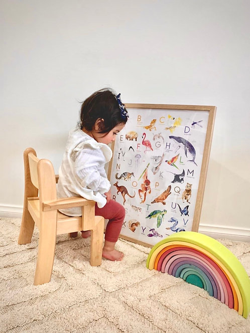 Montessori my first CHAIR WITH ARM (6 - 30 months) solid European beech wood