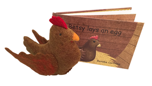 Betsy Lays an Egg Book and Toy