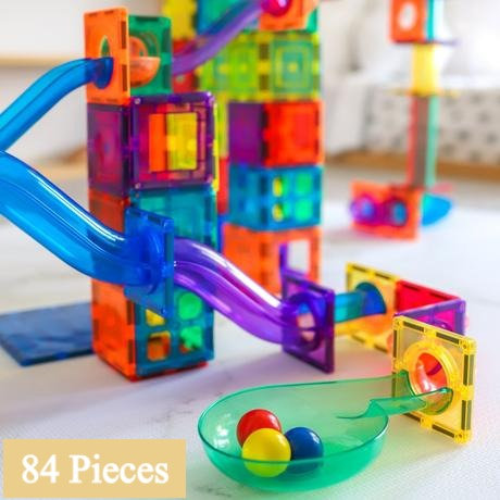 Learn & Grow Toys Magnetic Ball Run 84pc Pack
