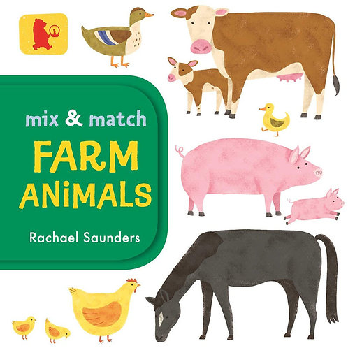 Mix and Match: Farm Animals (Board Book)