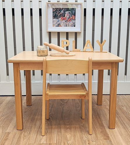 Lower Elementary (5 - 8 Yrs) Table Set Solid European Beech Wood