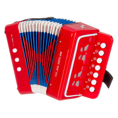 Piano Accordion Red