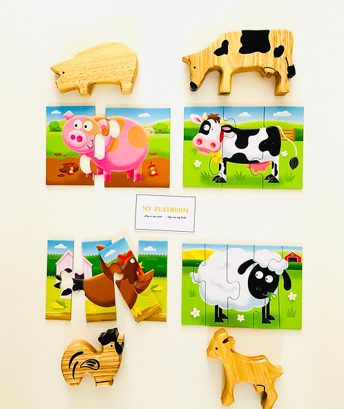 My First Puzzles of Farm Animals