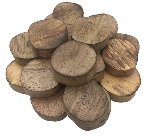 Papoose Natural Small Teak Slices 10 Piece