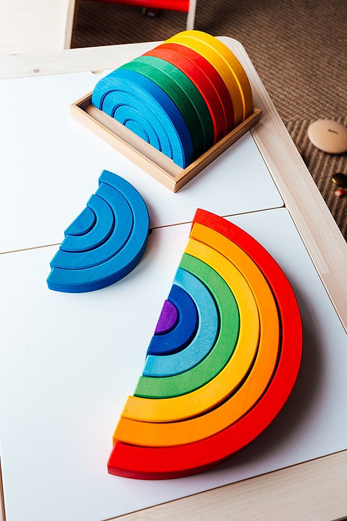 Bauspiel Large Rainbow 7pc - 35cm