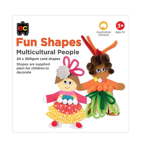 Fun Shapes Multicultural Person 24pc 150 x 150mm