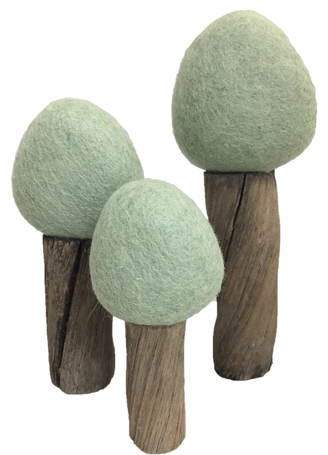 Papoose Earth Forest Trees Set of 3 Summer