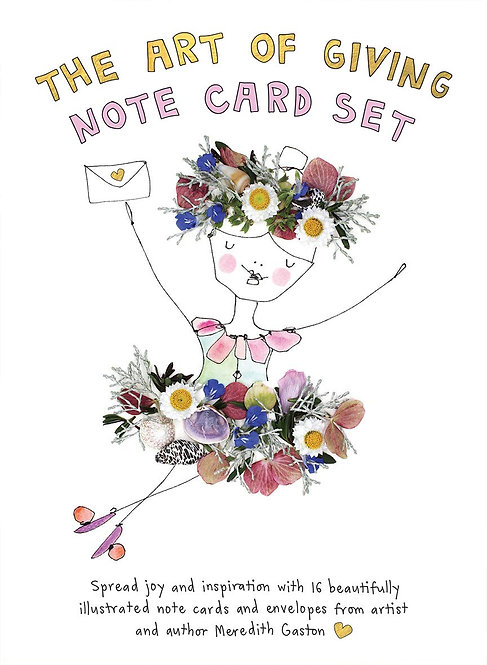 The Art of Giving Note Card Set: 16 beautifully illustrated note cards