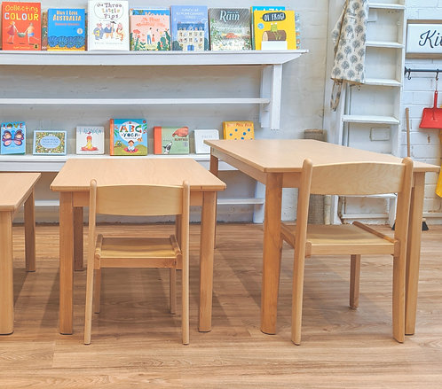 Lower Elementary (5 - 8 Yrs) Activity TABLE Solid European Beech Wood 120 x 60cm