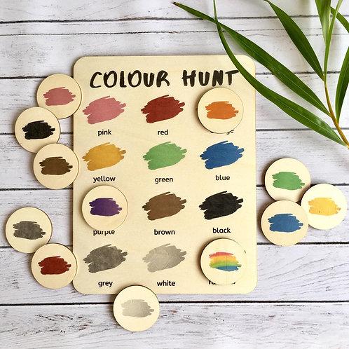 Colour Hunt Activity Board