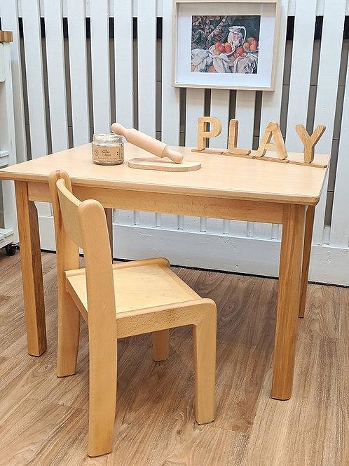 Preschooler (3 - 5 Yrs) Table Set Solid European Beech Wood
