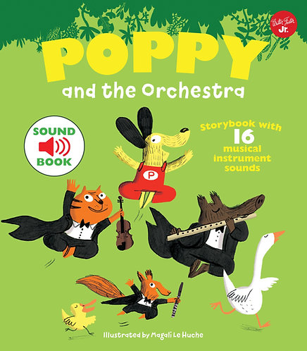 Poppy and the Orchestra: With 16 musical instrument sounds! (Hardcover)