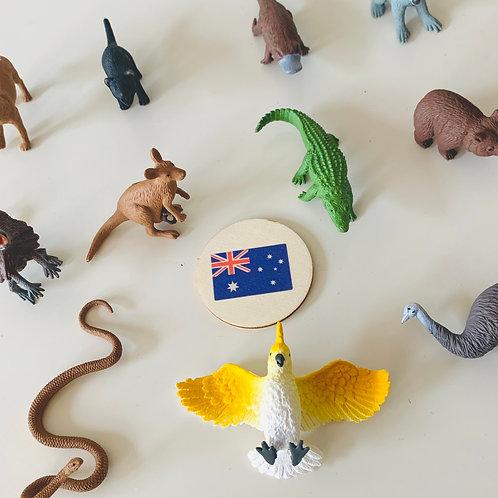 Australia Animals Montessori Language Learning Figurines