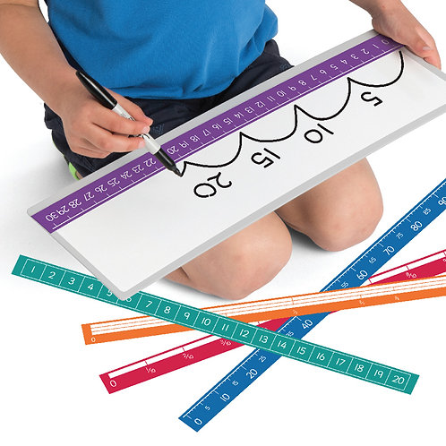 Write-on Boards with Magnetic Number Lines and Marker