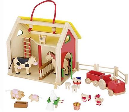 Goki Wooden Farm Set with 30+ Accessories