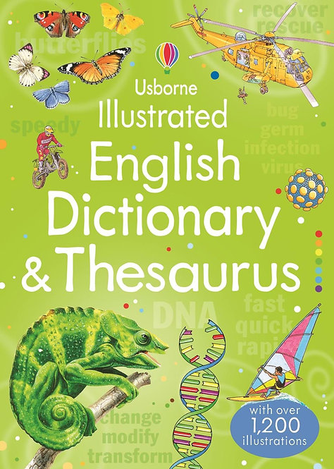 Illustrated English Dictionary & Thesaurus (Paperback)