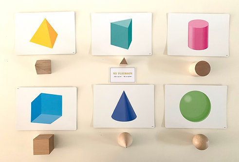 Wooden Geometric Solids 12pcs