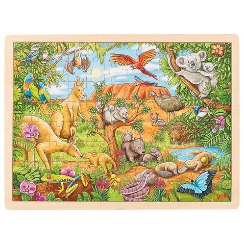 Goki Puzzle Australian Animals 96 pcs