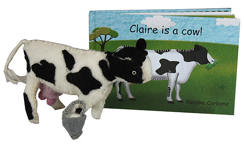 Papoose Claire is a Cow Book and Toy (Hardcover)