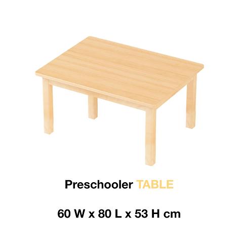 Montessori Preschooler (3 - 6Yrs) TABLE Solid European Beech Wood 60 x 80cm
