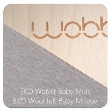 Wobbel Original Wool Felt Baby Mouse