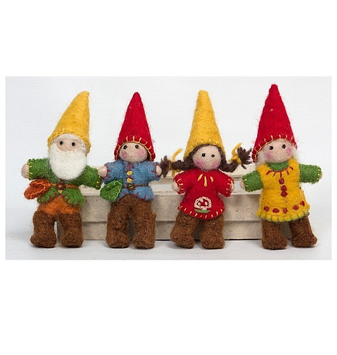 Papoose Gnome Family 4pcs
