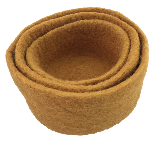 Papoose Earth Nested Bowls Mustard
