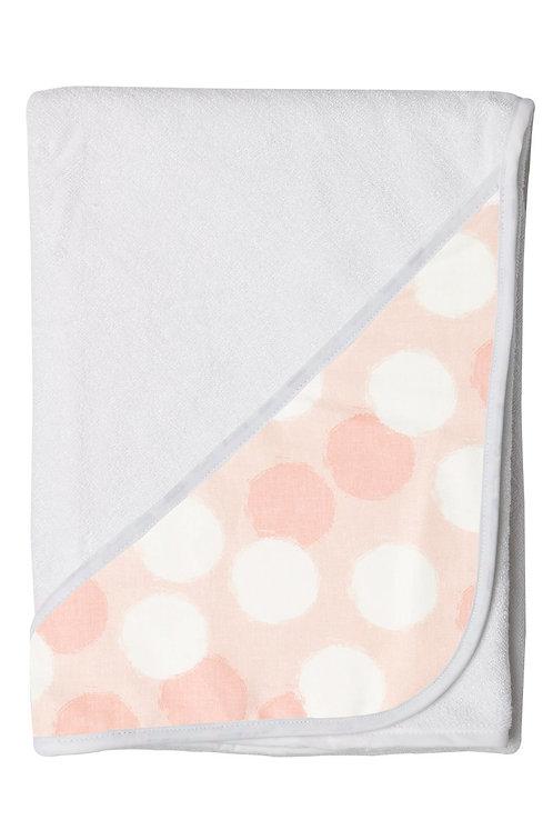 Hands Free Baby Bath Towel - Blush Spots