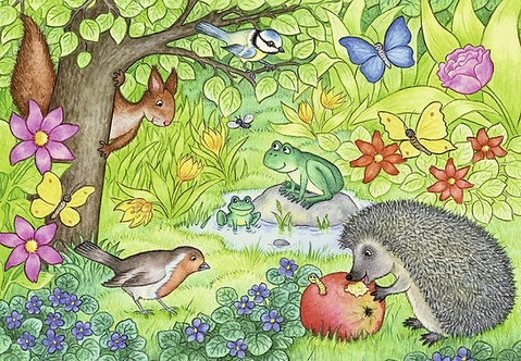Animals in Our Garden Puzzle (2 x 12 Piece)