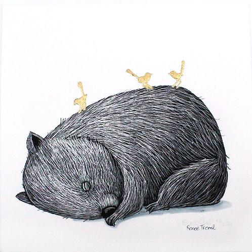 Gold: Wombat Fine Art Print