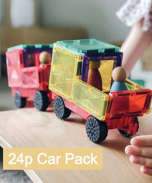 Connetix Tiles 24p Car Pack