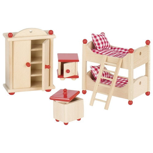 Goki Furniture for Flexible Puppets, Children's Room with Bunk Bed