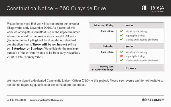 660 Quayside Construction Notice 10-24-2