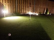 Golf Putting Green at Night