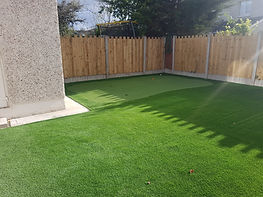 artificial grass and golf green