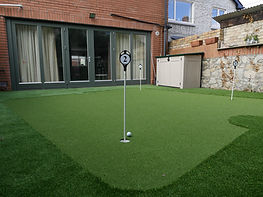 Garden Decking Putting Green