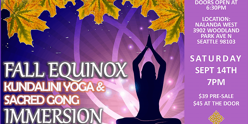 Fall Equinox Sacred Sound Immersion